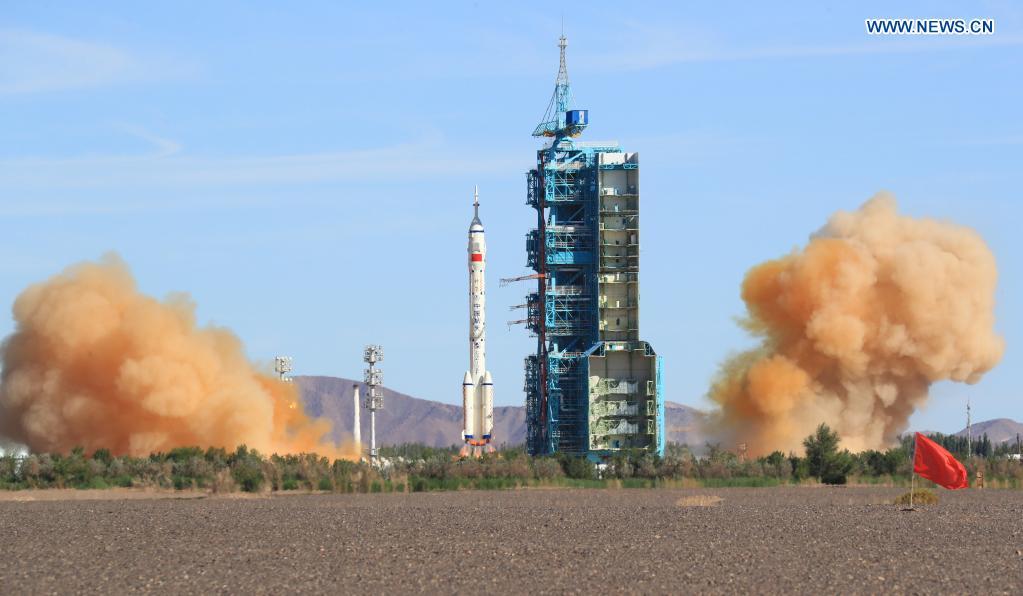 Lançamento da missão tripulada Shenzhou 12 prara a Estação Espacial Chinesa