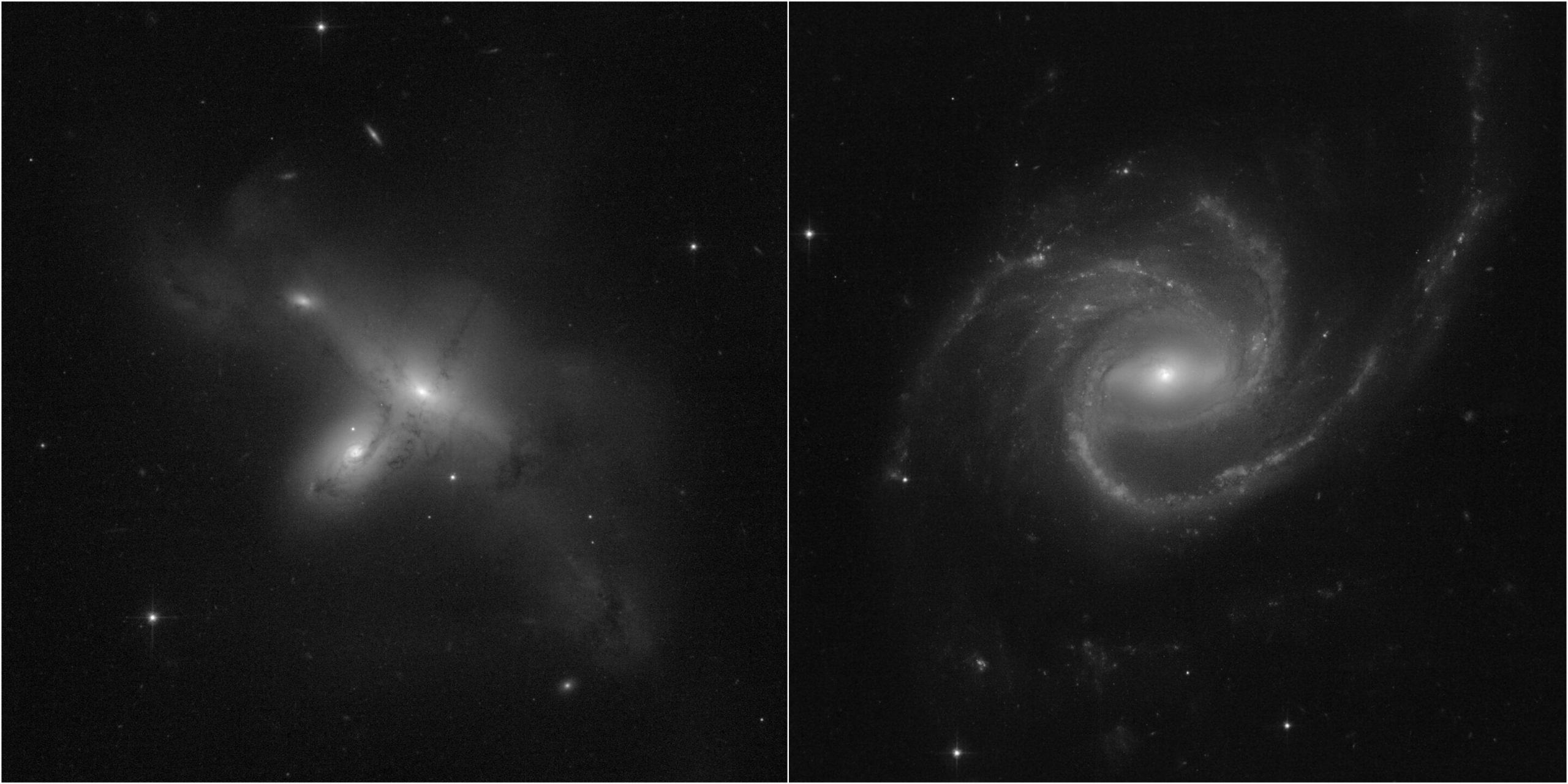 Imagens de galáxias captadas pelo Hubble