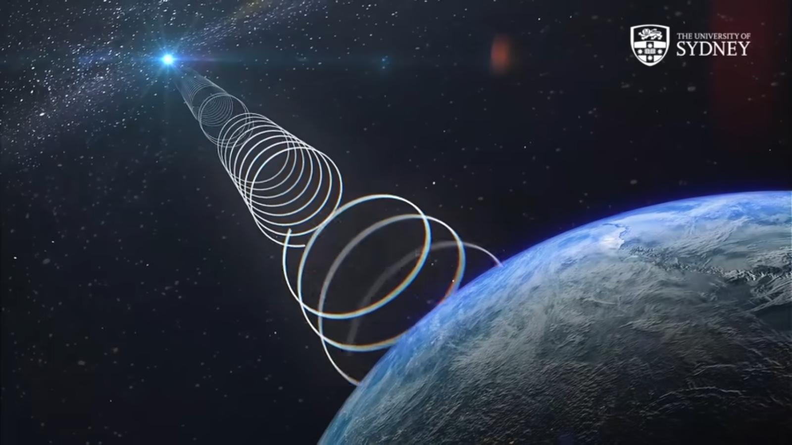 Fonte misteriosa emite ondas de rádio.